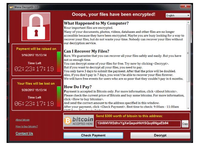 Tipičan primjer poruke Ransomware. Kako se zaštititi na interenetu